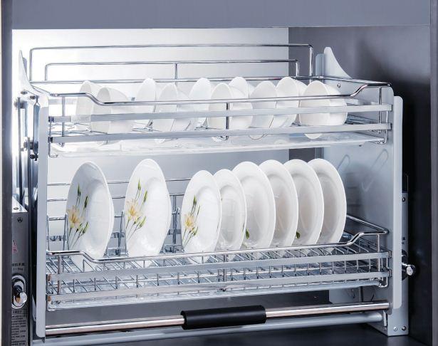 Giá bát nâng hạ đa năng tủ bếp trên Garis BH06.600-900  2