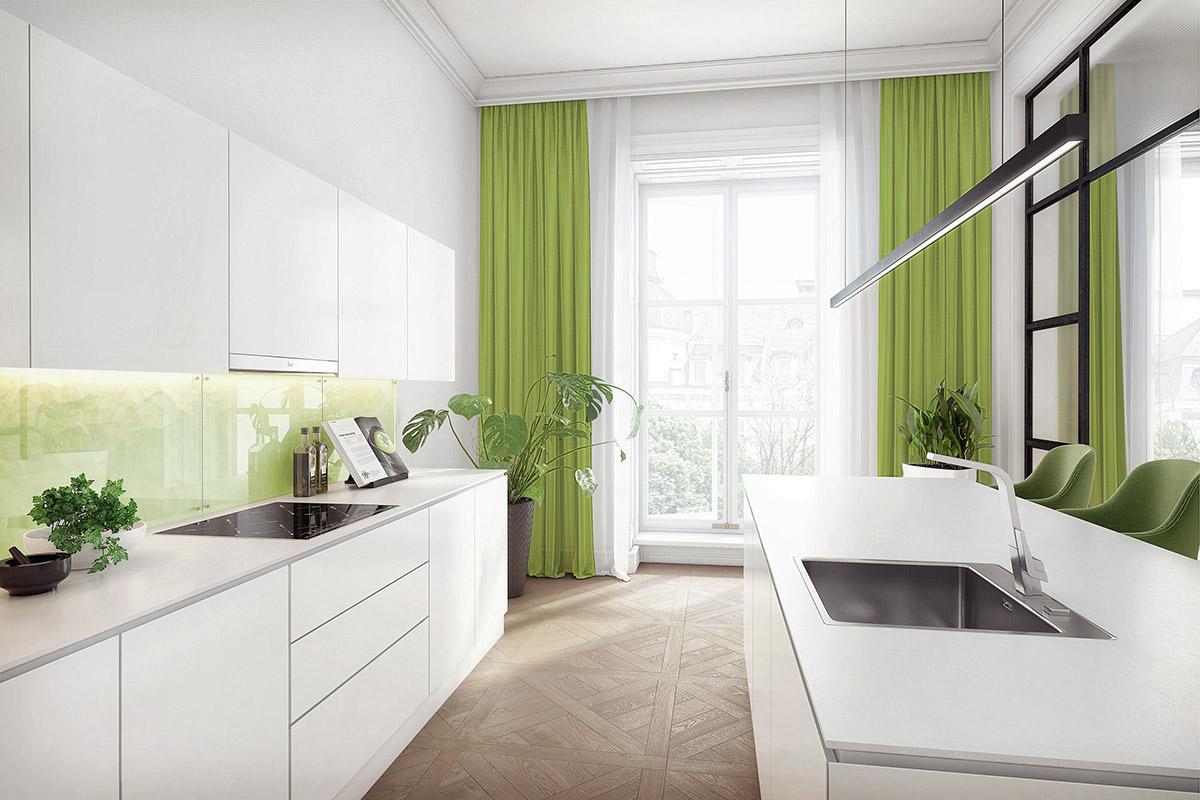 30 Mẫu nhà bếp mang hơi thở của sắc màu cây xanh ấn tượng  34
