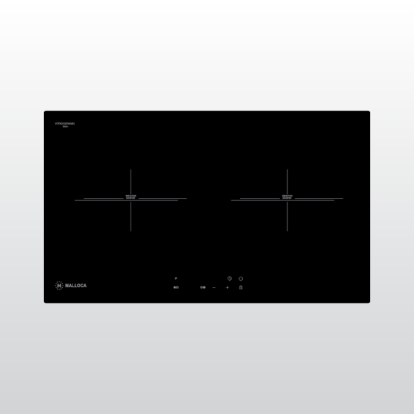 Bếp kính âm 2 vùng từ Malloca MH-732 EI