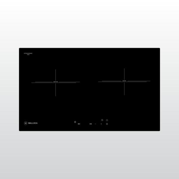 Bếp kính âm 1 điện 1 từ Malloca MH-732 EIR