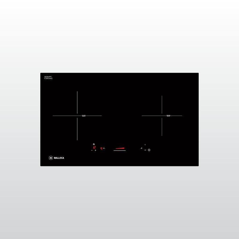 Bếp kính âm 2 vùng từ Malloca MI 732 SL