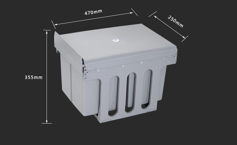 Thùng rác âm tủ thông minh cho tủ bếp 16 lít SDA001 5
