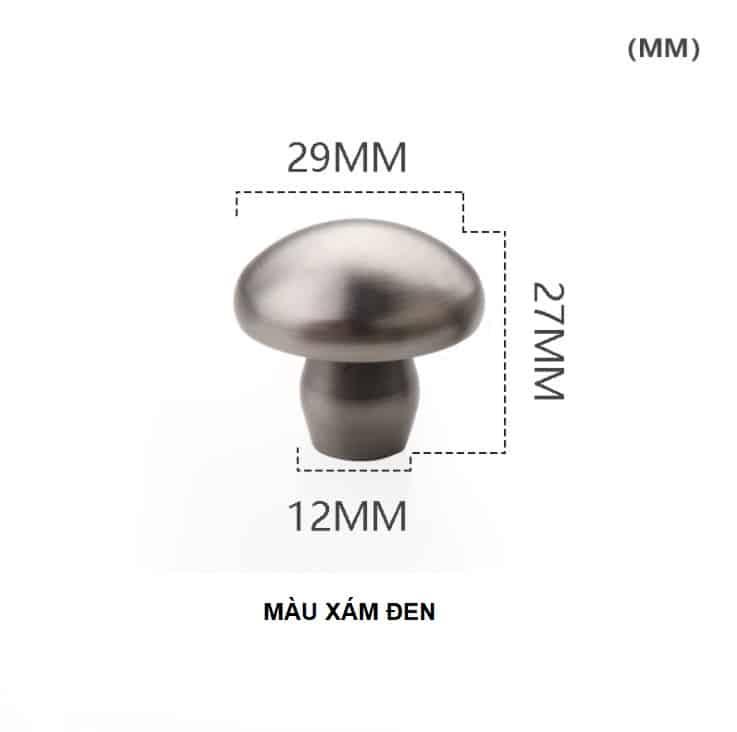 Núm tay nắm tủ hình nấm bằng đồng thau HTV62021 15