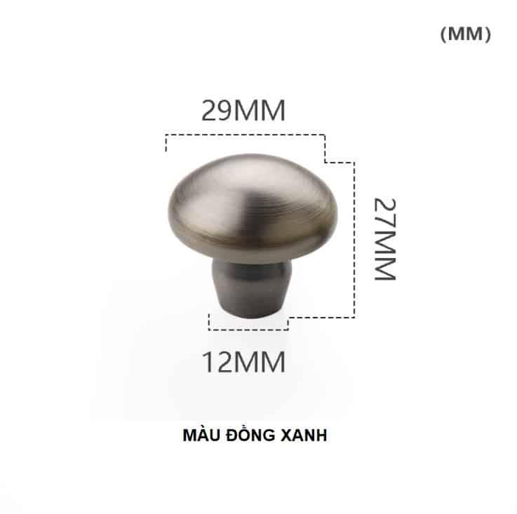 Núm tay nắm tủ hình nấm bằng đồng thau HTV62021 11