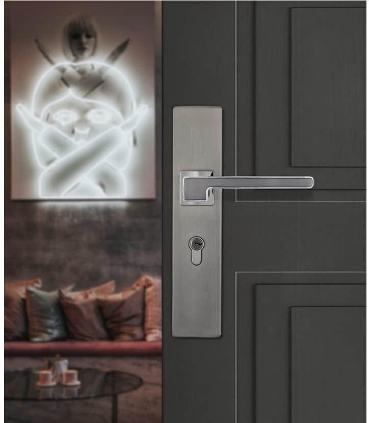 Ổ khoá cửa gỗ tay gạt hợp kim kẽm A698-229 10